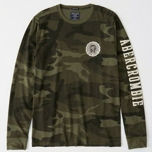 abercrombie and fitch Long-sleeve Applique Tee